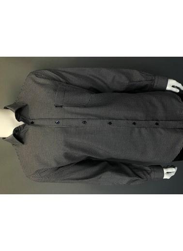 Abbate Baharlık Flanel Regular Fıt Ekose Gömlek Lacivert